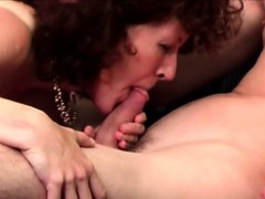 Mature Blows Young Cock