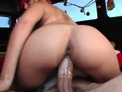 Naughty Blonde Riding Shaft In The Sex Bus