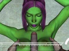 3d Alien Has Her Tits And Pussy Fucked