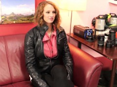 cute redhead amateur finishes off her pov casting scene