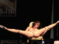 sexy flexible stripper on stage