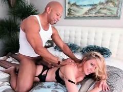 stockinged-blonde-working-a-huge-black-cock