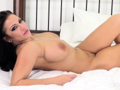 Bodacious Lylith Lavey Takes A Hard Stick For A Wild Ride On The Bed