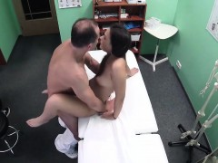 beautiful black haired student wants to ride doctors penis