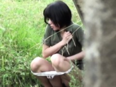 Asian Babes Pee Outdoors