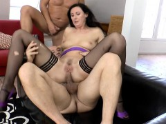 stockings-mature-spunked