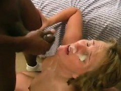 adult wife gets large facial that is black