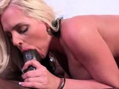 Busty Bitch Licking Huge Black Hammer