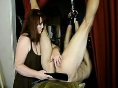 femdom mistress enjoying a huge penis that is hopeless