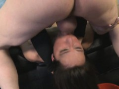 brunette dirtbag deliah dukes getting her face penetrated hard