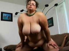 geeky bbw shianna spreads her chunky thighs for an ebony dick on the couch