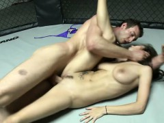 Buxom Babe With A Sublime Ass Gets Nailed By A Muscled Guy In The Ring