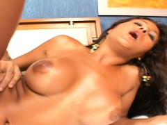 Bodacious Latina Anny Castro Rubs Her Clit While Her Man Fucks Her Ass