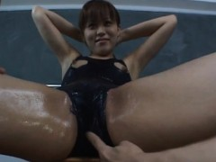Yume Asian Teen In Cut Out Suit Gets Vibrator Stimulation