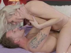mom heavenly blonde milf craves penis in shaved pussy