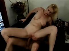sexy slender blonde mom stuffs a long dick deep inside her hungry butt