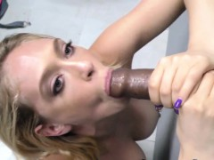 blonde blows black dick
