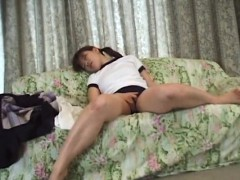 hikaru sporty asian teen fingers her exposed cunt
