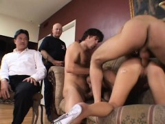 Nasty Blonde Housewife Playing Out Her Cuckold Fantasy With Two Studs
