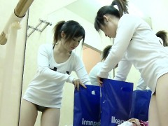 Lovely Asian Chick Enjoys Changing Into Her Workout Suit Fo