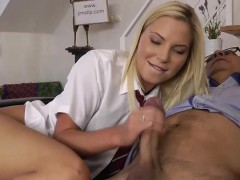 bitch schoolgirl rides rod