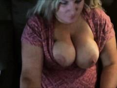 Fat Blonde Milf Has Her Enormous Tits Jizzed