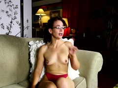 small-titted-mature-teasing-her-pussy