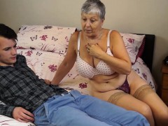 granny savana penetrated with really hard stick