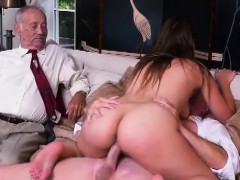 Beautiful Brunette Ivy Rose Riding Dat Old Dick On Couch