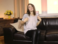 beautiful eurobabe sucks old male at casting – Porn Video