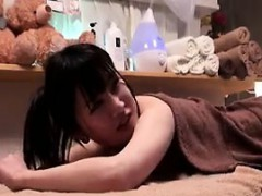 asian hottie gets an erotic massage from two men and gives