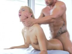 Blonde Katrin Tequila Anal Fucked And Ass Creampie On Table