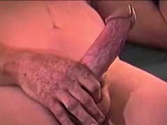 Dirty Old Bum Lee Bond Masturbates For Money On A Bed