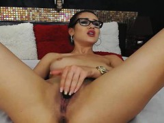 nerdy-babe-strips-and-finger-fucks-her-tight-pussy