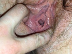 hairy-meat-pussy-fucked-hard-and-drips-from-dildo-s-pov