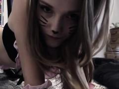 Amazing Girl Masturbates In Sexy Kitten Outfi Online