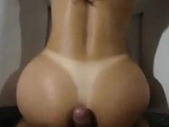 brazilian brunette having sex anally and falls on the net