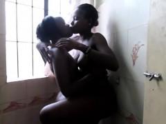 beautiful-african-girlfriends-having-fun-in-the-bathroom