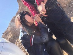 asian couple outdoor