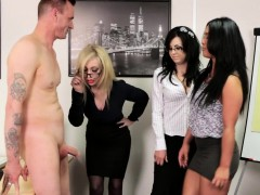 euro cfnm femdom blowing cock in office