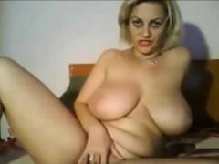 Attractive Big Tit Mature Masturbation On Webcam