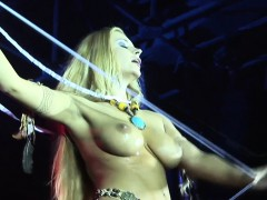 Stage Performer Dorothy Black Going Topless And Playing