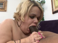 buxom blonde midget stella blowing and stroking a monster black pole