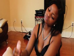 Ebony Beauty Wanking Cock