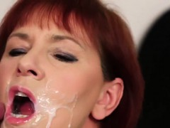 peculiar-hottie-gets-sperm-shot-on-her-face-eating-all-the-e