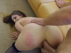 busty babe stella cox receives anal and facial