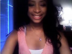 Stunning Black Teen Playing On Cam With Me