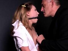Kinky Schoolgirl Gets Fingered And Spanked