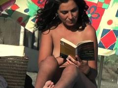 a very sexy slut in a spanish nudist beach Hot