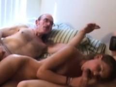 vintage-amateur-couple-invites-oldman-in-trio